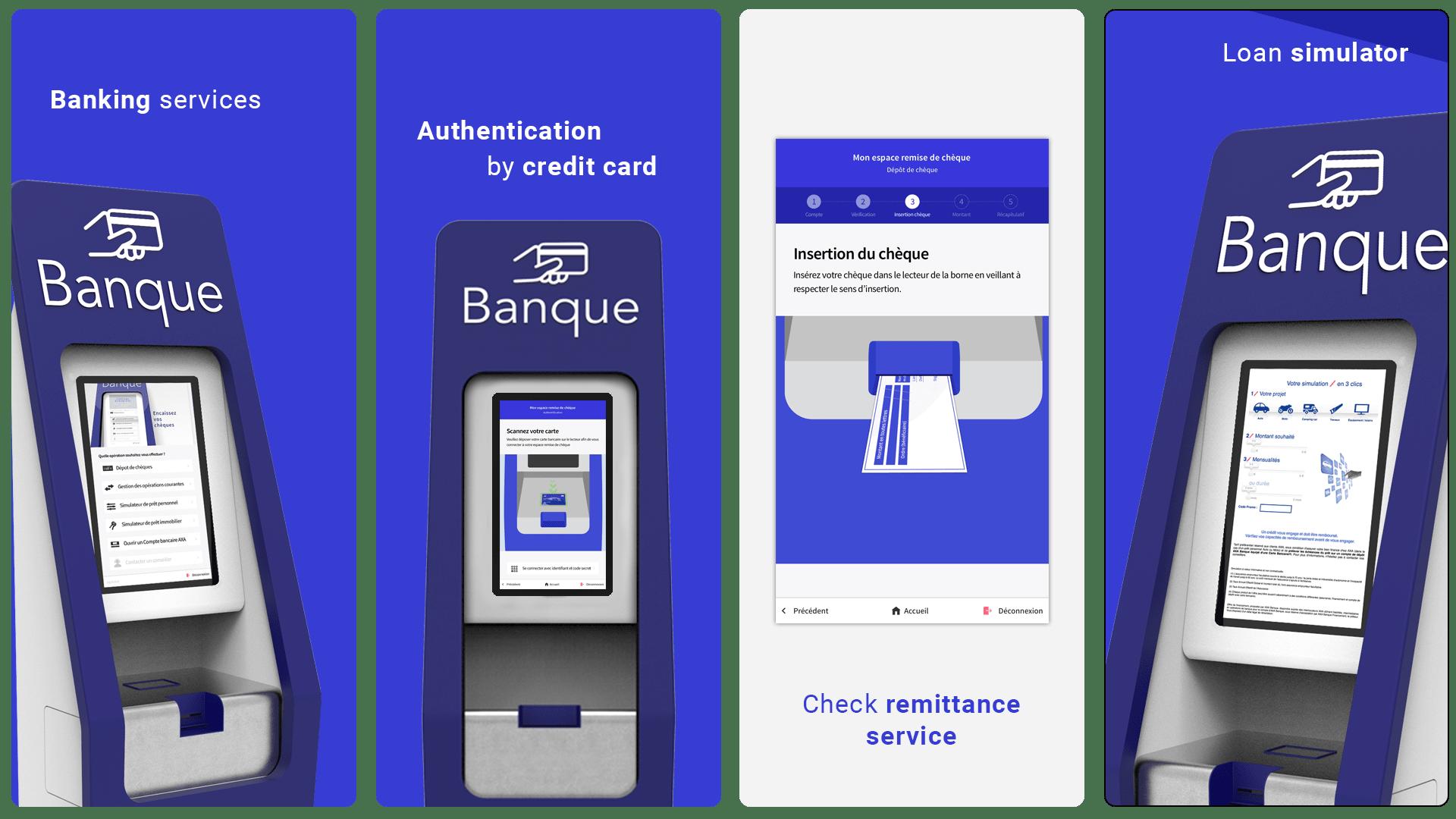 AXA BANQUE banking by Weblib